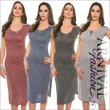 Knee Length Stretch Sleeveless Dresses for Women