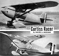 "Model Airplane Plans (Ff) : Curtiss Xf6C-6 Racer 1/12 Scale 31"" 1/2A (Musciano)"
