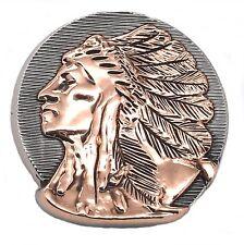 "Left Facing Chief Head Concho Antique Nickel w/Rose Gold 1-1/2"" 3667-31"