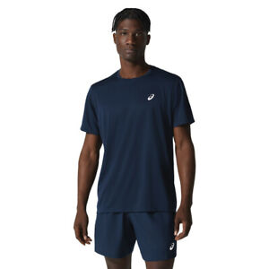 Asics Mens Katakana T Shirt Tee Top Navy Blue Sports Running Breathable