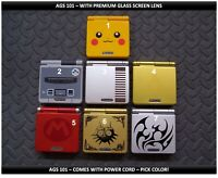 Nintendo Game Boy Advance GBA SP System AGS101 Brighter-Glass Screen-Pick Design