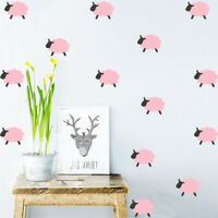 9Pcs Cute Sheep Wall Stickers Vinyl Art Children Kids Room Ceiling Wall Decal