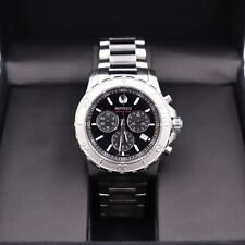 Movado Series 800 Chronograph Black Dial Stainless Steel Men's Watch 141141195