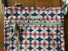 Vera Bradley Lighten up Weekender Travel Bag Duffle Water Geo