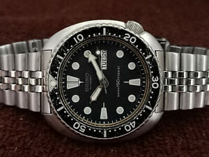 RARE VINTAGE SCUBA DIVER SEIKO 6309-7049 TURTLE AUTOMATIC MEN WATCH 660569