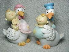Bomboniera per nascita e battesimo, salvadanaio in coccio a forma di cicogna.