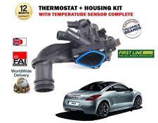 FOR PEUGEOT RCZ 1.6 16v 156BHP 2010--> NEW THERMOSTAT + HOUSING + SENSOR KIT