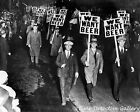 """Men Carrying """"We Want Beer"""" Prohibition Signs - 1931 - Vintage Photo Print"""