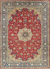 Vintage Traditional Floral RED/BLUE Najafabad Area Rug Wool Hand-Knotted 9'x12'