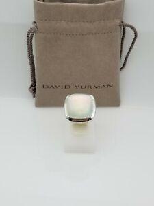 David Yurman 20mm Albion Ring with Moonstone Size 8.5