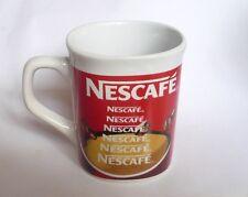 "NESCAFE COFFEE Ceramic Mug Cup MALAYSIA White Red Milk Coffee 3.5"" Tall Nestle"