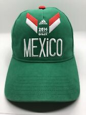 Fifa 2014 World Cup Mexico Cap Hat Adult Adjustable Adidas Green 100% Cotton