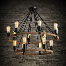 Lights & Lighting Industrial Farmhouse Iron Candle Chandelier Led E14 Rope Pendant Cafe Bar Restaurant Pipe 6 Or 8 Arm Lamp Colours Are Striking