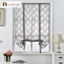 NAPEARL 1 Panel Decorative Striped Curtains Roman Shades Kitchen Jacquard Drapes