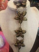 Kate Spade Centofolia Petits flower resin olive green daffodils bracelet