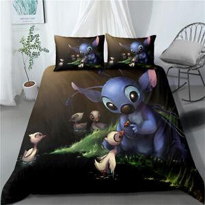 Lilo Stitch Quilt Duvet Cover Set Single Double King Super King Size Bed Set