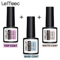 LEMOOC Base Matte Top Coat Smalto Gel UV Soak Off UV/LED Nail Art