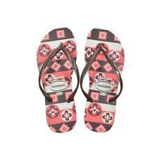 Havaianas Slim Rubber Flip Flops Women Geometric White 35-36 BR 37-38 EU 6 US