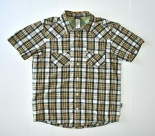 PATAGONIA 100% Organic Cotton Multi Color Plaid Button Front S/S Shirt MEDIUM