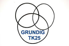 SET BELTS GRUNDIG TK25 REEL TO REEL EXTRA STRONG NEW FACTORY FRESH TK 25