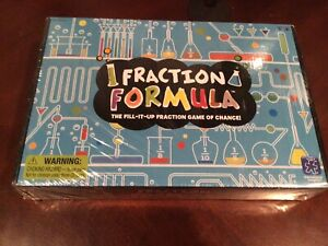 Brand New Educational Insights Fraction Formula Science Game Ages 8+ 4 players