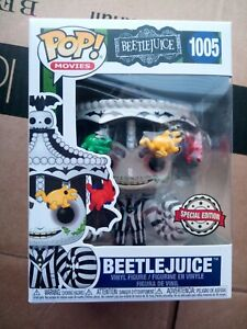 Funko POP! Beetlejuice w Carousel Hat 1005 new rare in hand movie