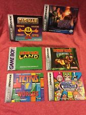 INSTRUCTION BOOK ONLY Lot of 16 Nintendo Gameboy Advance GBA Donkey Wario Tetris