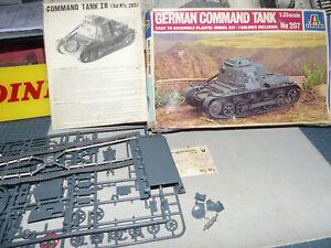 ITALERI-German Command Tank-1:35 scale-Art.207-Scatola dann.ta kit completo -