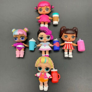 Lot 5X Dolls with Random Dress Shoes Bottle Gift for Girl