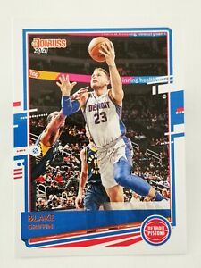 Panini Donruss 2020-21 N15 NBA trading card #69 Detroit Pistons Blake Griffin