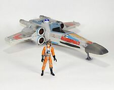 2004 Star Wars POTF X-WING and 2001 POTF Luke, X-Wing Pilot