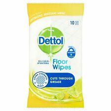Dettol Floor Wipes Extra Large Wipes Lemon & Lime - 1/2 or 3 packs of 10