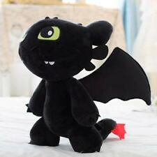 """How to Train Your Dragon Plush Toothless Night Fury Soft Toy Doll Teddy 12"""" gift"""