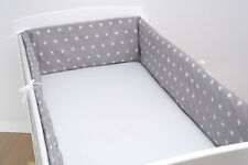 BUMPER COT COTBED ALL ROUND BABY BEDDING 120x60 140x70 NURSERY SET 100% COTTON