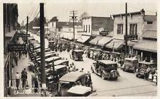 Photo. ca 1931. Chilliwack, BC Canada. Wellington Avenue - autos