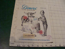 Scarce DINERS CLUB MAGAZINE august 1959; 34pgs, some writing on cover