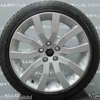 RANGE ROVER SPORT SUPERCHARGED V SPOKE 20INCH ALLOY WHEELS AND NEW HANKOOK TYRES