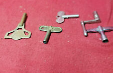 Group of 5 Antique Clock Keys & Cranks-Various Sizes