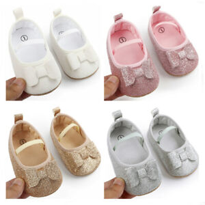 Newborn Baby Girl Pram Shoes Infant Princess Wedding Party Shoes First Step Shoe