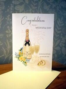 """""""Congratulations On your Wedding Day / Anniversary""""  card / Can be Personalised"""