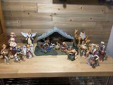 Thomas Kinkade Complete Nativity Set. 21 pcs. In Original Boxes. W/certificates