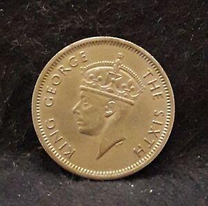 1950 British Malaya 10 cents, Royal Mint, George VI, KM-8 (MA4)             /N59