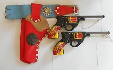 VINTAGE JAPAN TIN CAP GUN PISTOL TOY COWBOY INDIAN PERFECT WORKING CONDITION