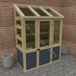 Woodwork Plans for Lean To Greenhouse 3 x 6 ft (Plans Only by Email)