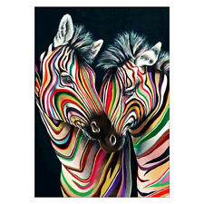 5D Zebra DIY Full Diamond Painting By Number Kits Cross Stitch 30*40Cm AU Seller