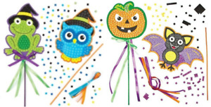 Halloween Mosaic Wand Craft Kit Birthday Party Gift