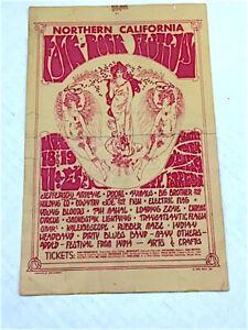 flyer poster rock Original the DOORS JANIS JOPLIN Jefferson Airplane  ANIMALS