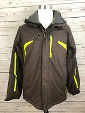 Salomon Advantex Move Snowboard Ski Snow Jacket Brown Men's Coat Size Large