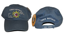 Key West Florida Conch Republic Deep Washed Light Blue Baseball Hat Cap (RUF)