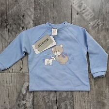 Jacky Baby Gr. 80 Kinder Pullover Shirt Oberteil Sweatshirt Blau D065